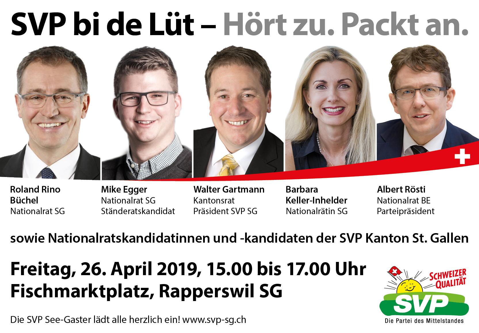 SVP bi de Lüt mit Albert Rösti (Freitag, 26.04.2019)