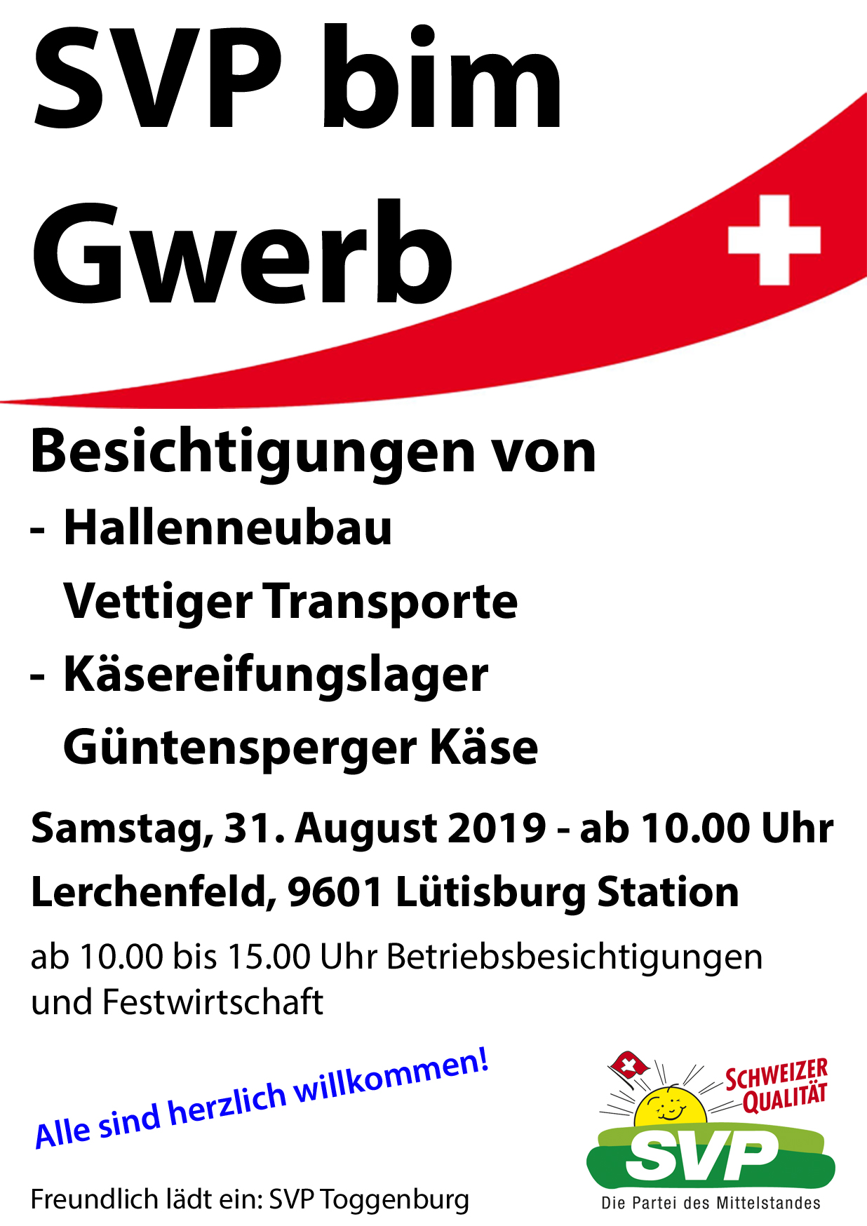 SVP bim Gwerb (Samstag, 31.08.2019)